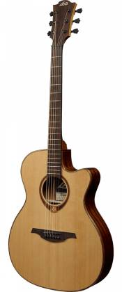 Lag T118ASCE Tramontane 118 Auditorium Slim Cutaway 6 String RH Acoustic-Electric - Natural Product Image 3