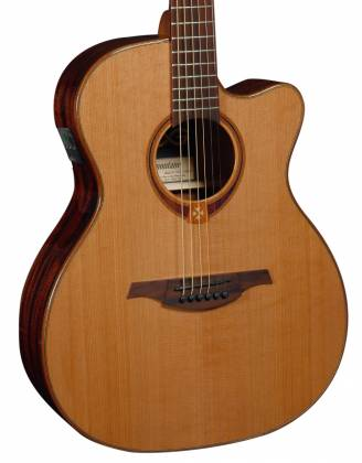 Lag T118ASCE Tramontane 118 Auditorium Slim Cutaway 6 String RH Acoustic-Electric - Natural Product Image 7
