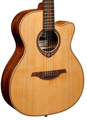 Lag T170ACE Auditorium 6 String RH Acoustic-Electric Guitar - Natural Product Image 3