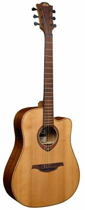 Lag T170 DCE Tramontane Cutaway Dreadnought 6 String RH Acoustic Guitar with Pickup t-170-dce Product Image 2