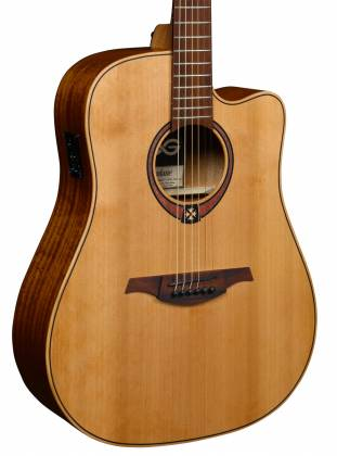 Lag T170 DCE Tramontane Cutaway Dreadnought 6 String RH Acoustic Guitar with Pickup t-170-dce Product Image 3