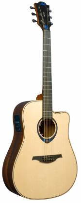 Lag THV30DCE Tramontane HyVibe BearClaw Spruce 6 String RH Acoustic-Electric Smart Guitar w/ Bluetooth with hardshell case thv-30-d-ce Product Image 2
