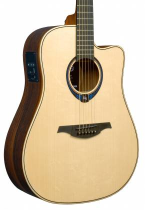 Lag THV30DCE Tramontane HyVibe BearClaw Spruce 6 String RH Acoustic-Electric Smart Guitar w/ Bluetooth with hardshell case thv-30-d-ce Product Image 3