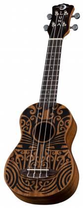 Luna UKE TRIBAL SOPRANO Mahogany 4 String Acoustic Ukulele - Satin Natural Product Image 3