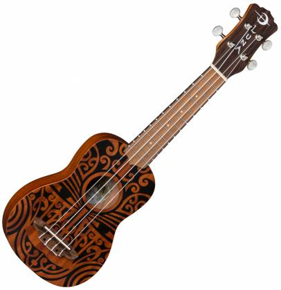 Luna UKE TRIBAL SOPRANO Mahogany 4 String Acoustic Ukulele - Satin Natural Product Image 2
