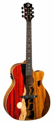 Luna VISTA BEAR Tropical Wood 6 String RH Acoustic-Electric Guitar with Case Product Image 6