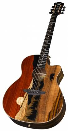 Luna VISTA BEAR Tropical Wood 6 String RH Acoustic-Electric Guitar with Case Product Image 3