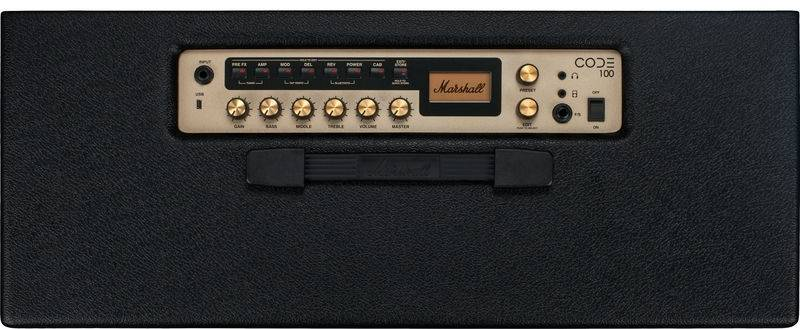 Marshall CODE100 Bluetooth Enabled Code Series 100 Watt Digital Guitar Amplifier Combo with PEDL-91010 Footswitch code-100 Product Image 4