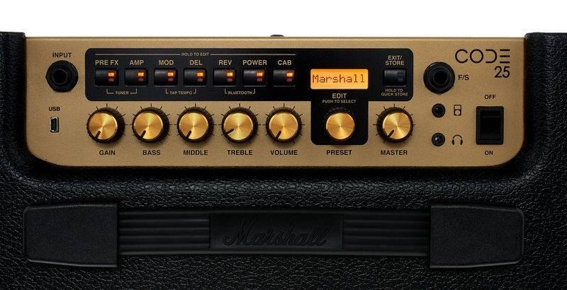 Marshall CODE25 Bluetooth Enabled Code Series 25 Watt Digital Guitar Amplifier Combo code-25 Product Image 6