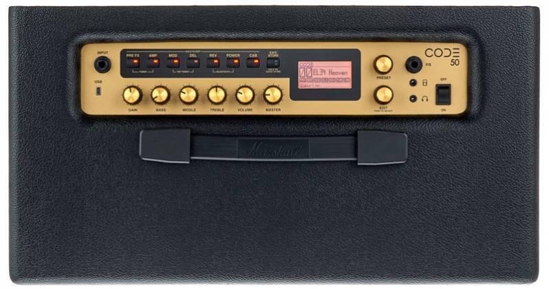 Marshall CODE50 Bluetooth Enabled Code Series 50 Watt Digital Guitar Amplifier Combo Product Image 5