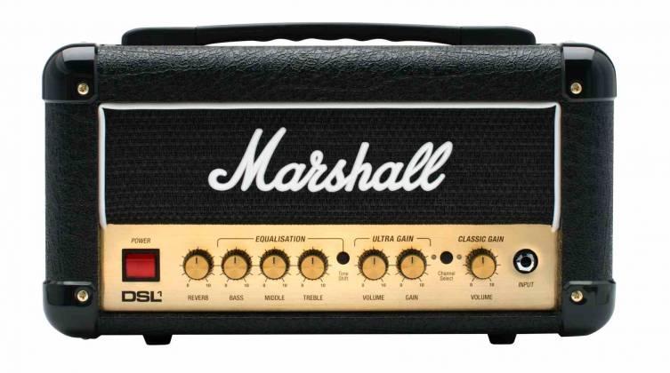 Marshall DSL1HR 1W Valve 2 Channel Tube Guitar Amplifier Head dsl-1-hr Product Image 2
