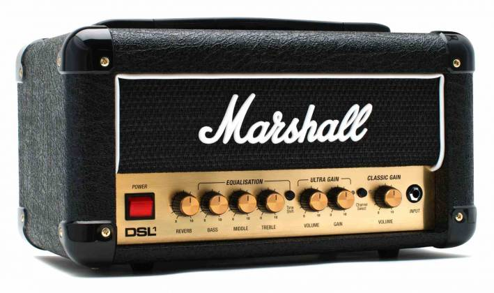 Marshall DSL1HR 1W Valve 2 Channel Tube Guitar Amplifier Head dsl-1-hr Product Image 4