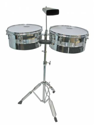 Mano MP1434 Percussion Timbale Set Chrome Product Image 2