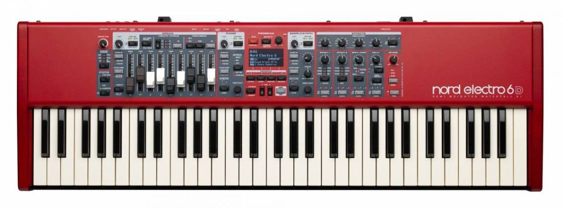 Nord By Clavia ELECTRO6D61 Semi-Weighted Waterfall Action 61 Key Keyboard Product Image 2