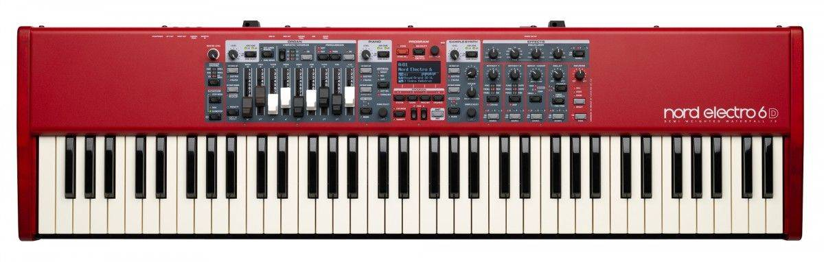 Nord By Clavia ELECTRO6D73 Semi-Weighted Waterfall Action 73 Key Keyboard
