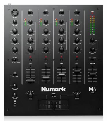 Numark M6 USB BLACK 4 Channel USB DJ Mixer Product Image 3