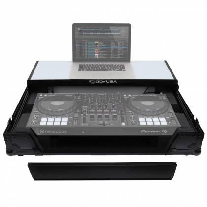 Odyssey FFXGSDDJ1000WBL FX Glide Style DJ Controller Case with 1U Rack Space Product Image 3