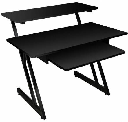 On Stage Stands WS7500B Black WS7500 Series Wood Workstation Product Image 2
