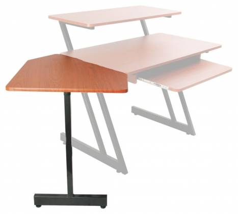 On Stage Stands WSC7500RB Rosewood WS7500 Series Workstation Corner Accessory Product Image 3