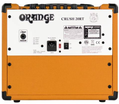 Orange CRUSH 20RT 20W Twin Channel Guitar Amplifier Combo with Reverb & Tuner Product Image 6