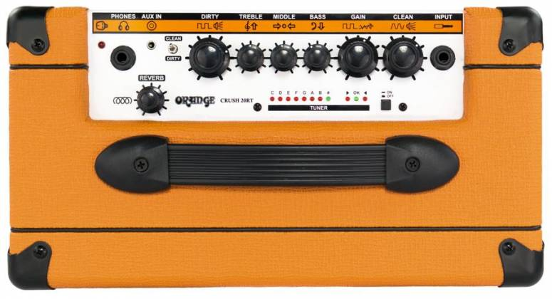 Orange CRUSH 20RT 20W Twin Channel Guitar Amplifier Combo with Reverb & Tuner Product Image 8
