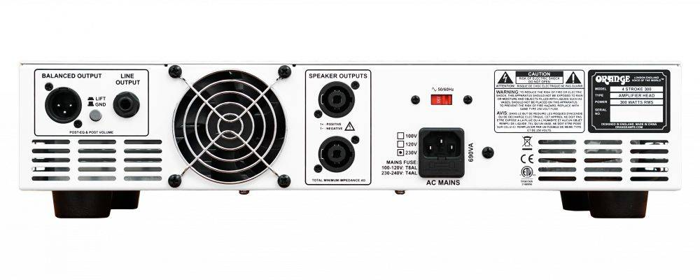 Orange 4 STROKE-300 Rackmount 300W 4 Band Parametric EQ Class A/B Bass Amp Head Product Image 6
