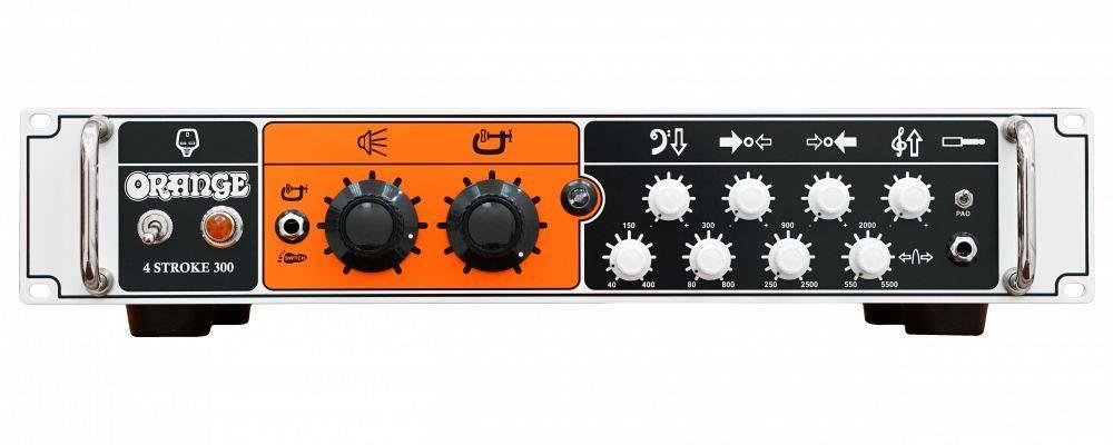 Orange 4 STROKE-300 Rackmount 300W 4 Band Parametric EQ Class A/B Bass Amp Head Product Image 4