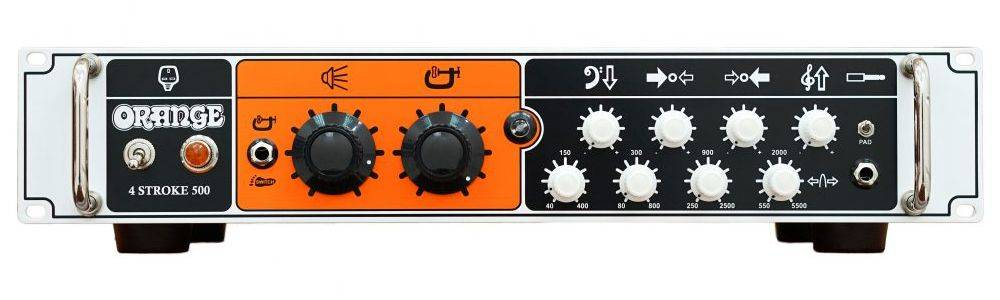 Orange 4 STROKE-500 Rackmount 500W 4 Band Parametric EQ Class A/B Bass Amp Head Product Image 4