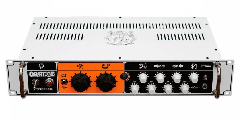 Orange 4 STROKE-500 Rackmount 500W 4 Band Parametric EQ Class A/B Bass Amp Head Product Image 3