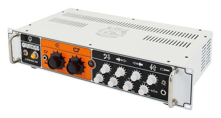 Orange 4 STROKE-500 Rackmount 500W 4 Band Parametric EQ Class A/B Bass Amp Head Product Image 2