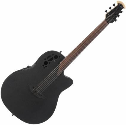 Ovation 1868TX-5 Black Pro Elite Super Shallow 6 String Acoustic RH Electric Guitar 1868-tx-5 Product Image 2