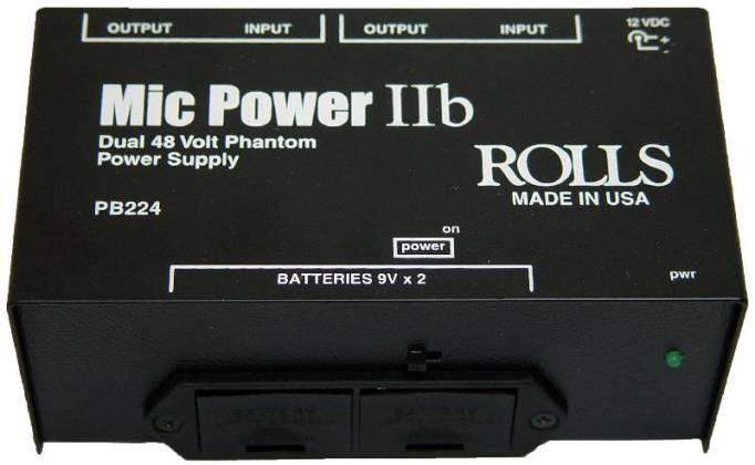 Rolls PB224 Mic Power IIb Dual Phantom Plus Mic Power Adapter Product Image 2