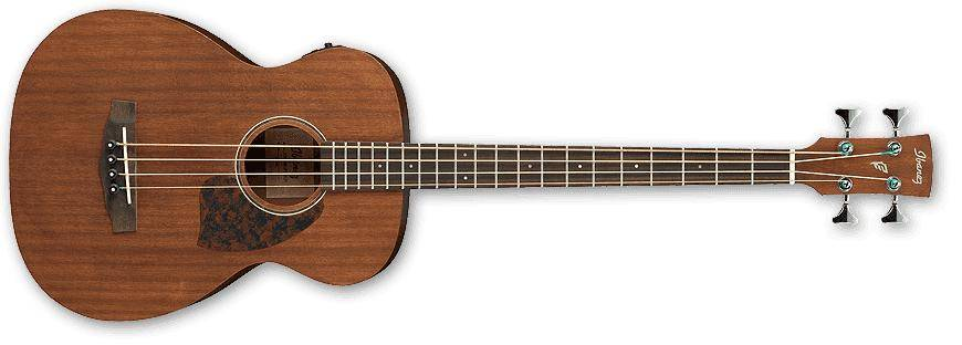 Ibanez PCBE12MH-OPN-d 4 String Acoustic Electric Bass in Open Pore Natural (discontinued clearance)  (Prior Year Model) Product Image 2
