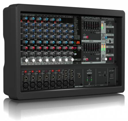 Behringer PMP580S Europower Series 500W 10 Channel Powered Mixer with KLARK TEKNIK Multi-FX Processor Product Image 3