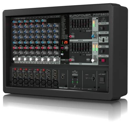 Behringer PMP580S Europower Series 500W 10 Channel Powered Mixer with KLARK TEKNIK Multi-FX Processor Product Image 5