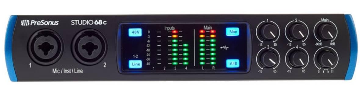 Presonus Studio 68C 6x6 USB-C Audio Interface Product Image 2