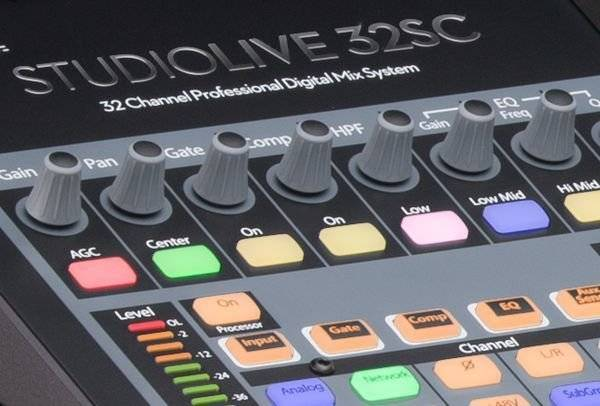 Presonus StudioLive 32SC Series III S 32-Channel Subcompact Digital Mixer Product Image 10