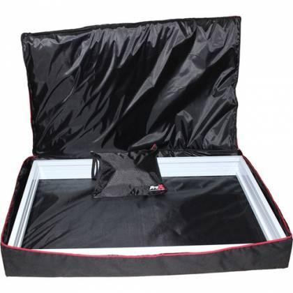 ProX XF-4X3048W DJ Facade 4x White Collapse and Go Facade Panels with Carry Bag and Black & White Scrims Product Image 11
