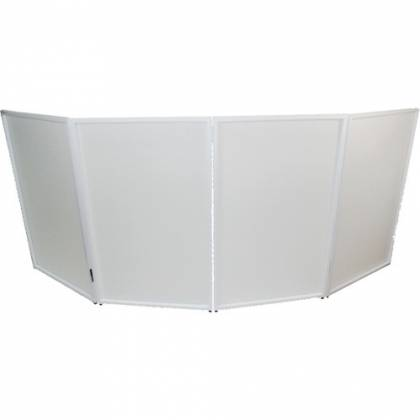 ProX XF-4X3048W DJ Facade 4x White Collapse and Go Facade Panels with Carry Bag and Black & White Scrims Product Image 3
