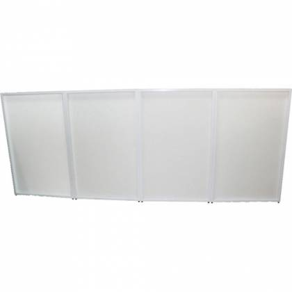 ProX XF-4X3048W DJ Facade 4x White Collapse and Go Facade Panels with Carry Bag and Black & White Scrims Product Image 4