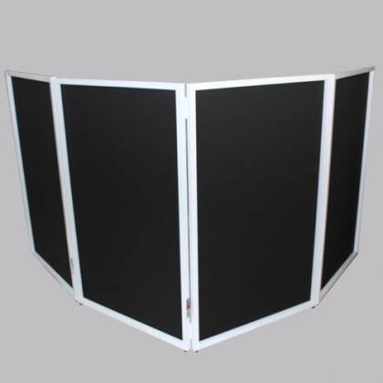 ProX XF-4X3048W DJ Facade 4x White Collapse and Go Facade Panels with Carry Bag and Black & White Scrims Product Image 5