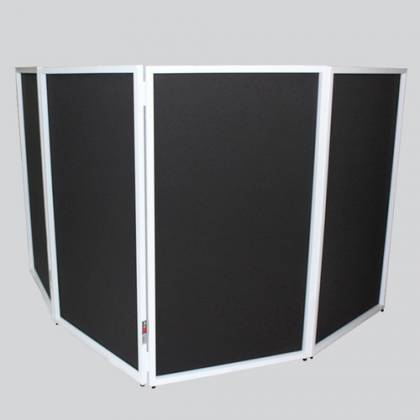 ProX XF-4X3048W DJ Facade 4x White Collapse and Go Facade Panels with Carry Bag and Black & White Scrims Product Image 6