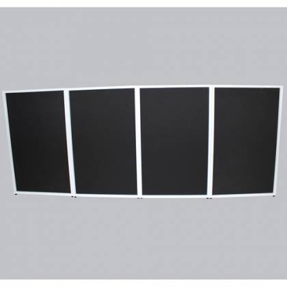 ProX XF-4X3048W DJ Facade 4x White Collapse and Go Facade Panels with Carry Bag and Black & White Scrims Product Image 7