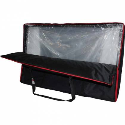 ProX XF-4X3048W DJ Facade 4x White Collapse and Go Facade Panels with Carry Bag and Black & White Scrims Product Image 8