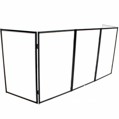 ProX XF-5X3048B Black Frame 5 Panel Pro DJ Facade with Stainless Quick Release 180 Degree Hinges Product Image 4