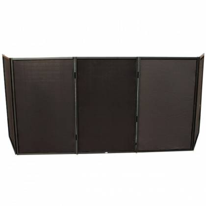 ProX XF-5X3048B Black Frame 5 Panel Pro DJ Facade with Stainless Quick Release 180 Degree Hinges Product Image 5