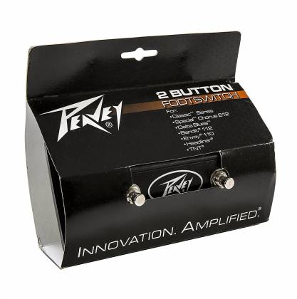 Peavey 03022910 Multi-Purpose 2-Button Footswitch for Bandit and many other  amps Product Image 3