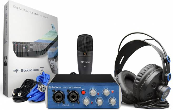 Presonus AudioBox USB 96 Studio USB 2.0 Audio Recording Interface with Headphones and Mic audio-box-usb-96-studio Product Image 5