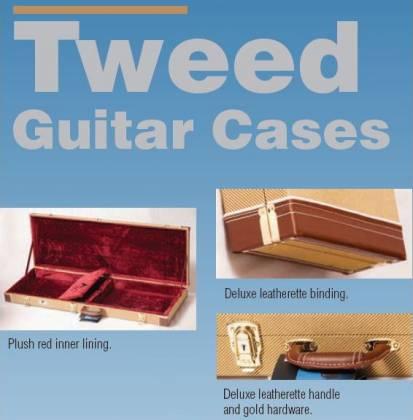 Profile PRC300TW-B Rectangular Tweed Hardshell Base Guitar Case Product Image 2