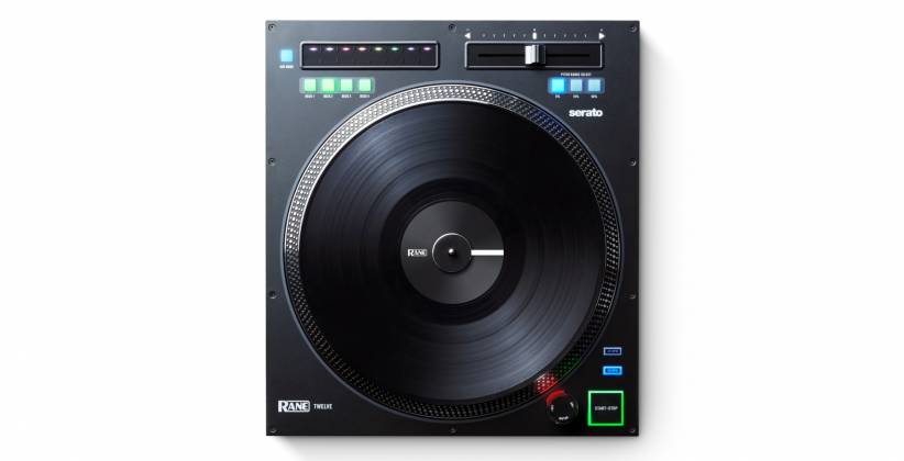"Rane DJ TWELVE DJ MIDI Controller with 12"" Motorized Platter Product Image 3"